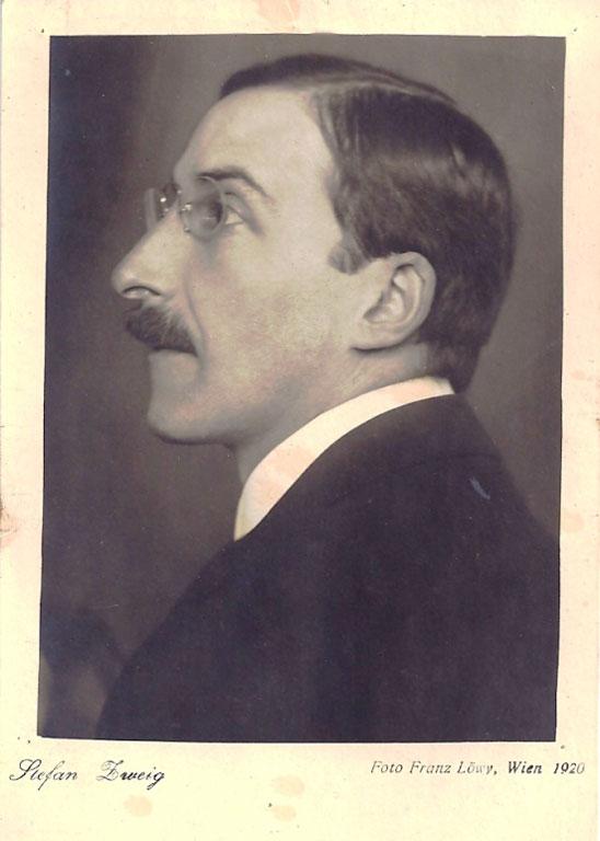 Retrato de Stefan Zweig. Viena, 1920 (BNI)
