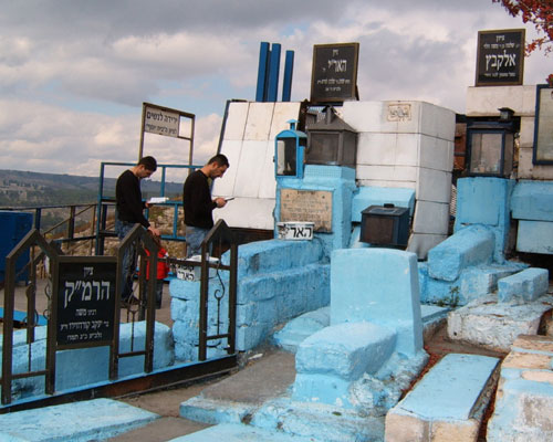 La tumba de Rabbi Isaac Luria en Safed