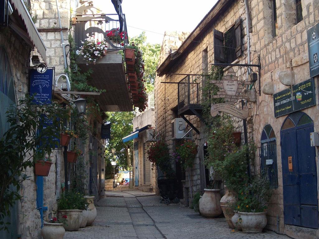 Una calle en la ciudad vieja de Safed