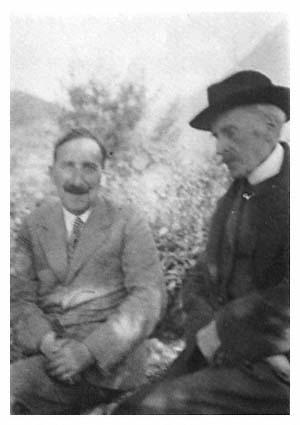 Stefan Zweig con Romain Rolland, Villeneuve, Suiza, 1933